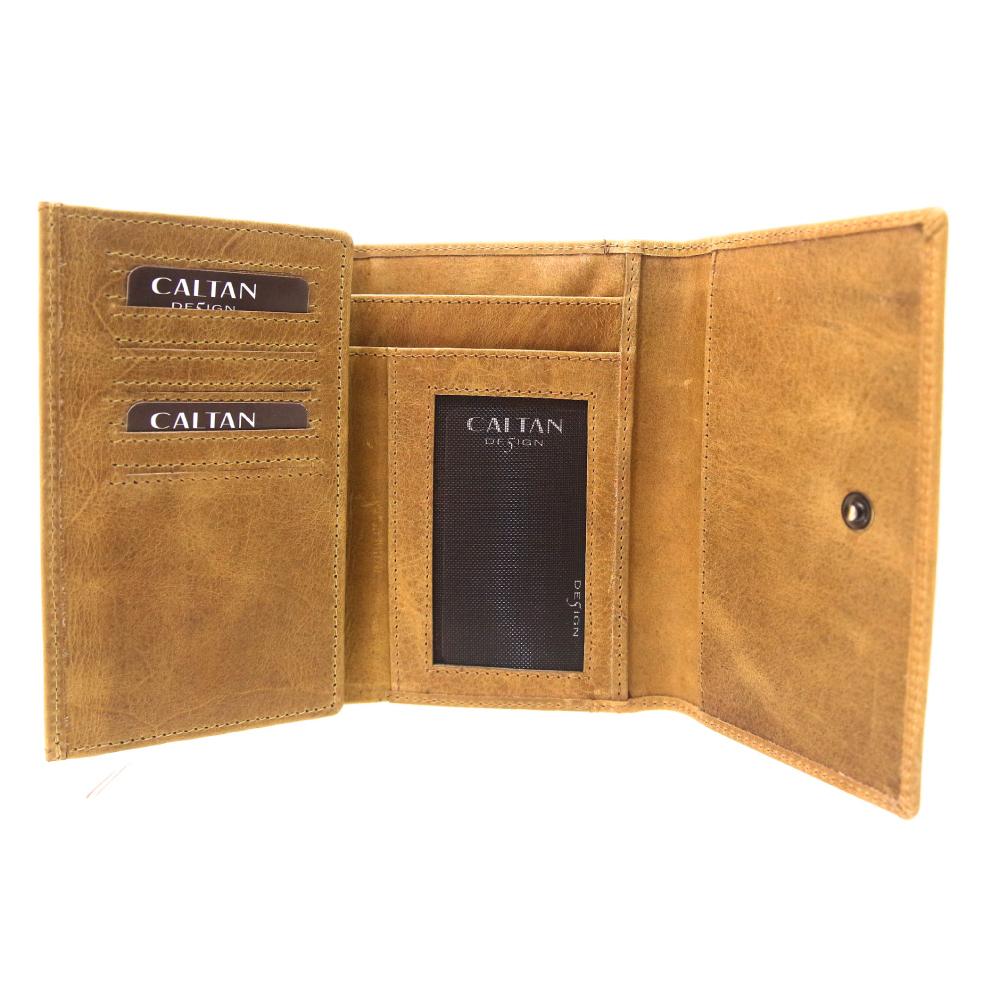 CALTAN - 女用真皮中長夾 雙折式 手拿包 皮夾 卡夾  -2030ht