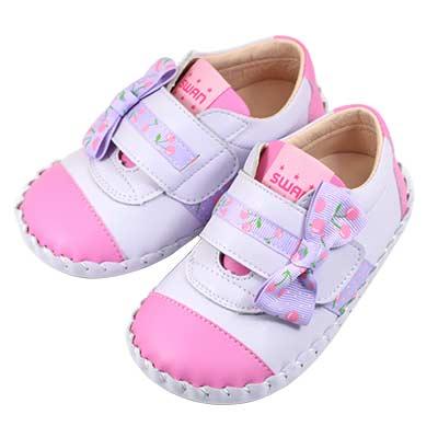 Swan天鵝童鞋-小櫻桃雙色休閒學步鞋 1551-紫