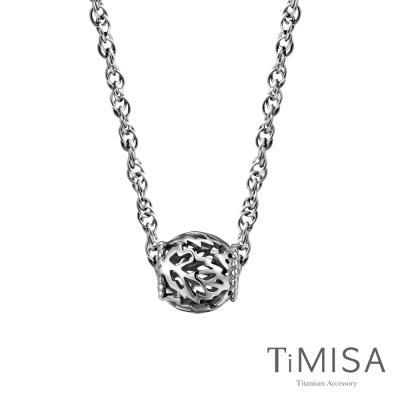 TiMISA 繁葉 純鈦串飾項鍊(SB)