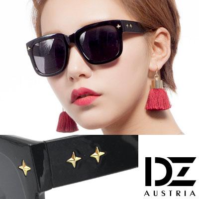 DZ-十字閃光釘-抗UV-偏光-太陽眼鏡墨鏡-亮黑系