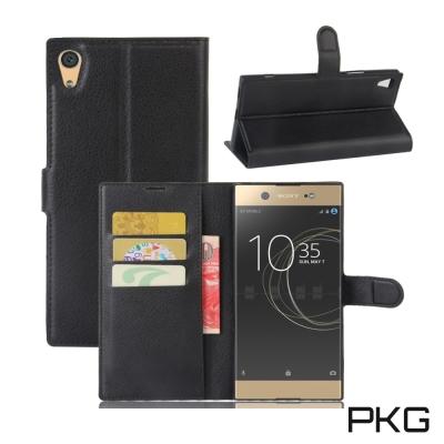 PKG SONY XA1 Ultra 側翻式皮套經典皮革系列-黑色