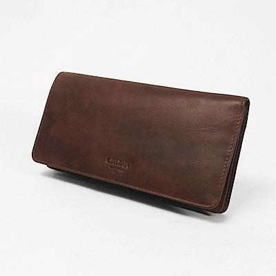 CALTAN-女夾 獨家設計長夾 可抽取式卡片收納皮件 鈔票容量大空間-074129ka