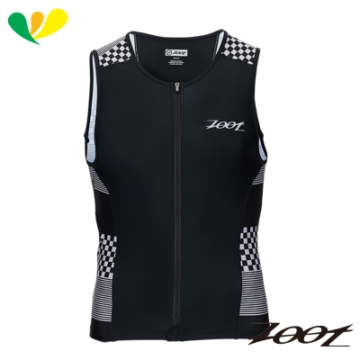 ZOOT 專業級全拉式肌能鐵人上衣(男) Z1706020(格紋白)