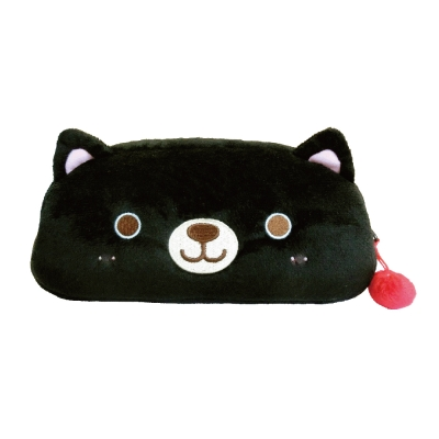 UNIQUE 動物樂園毛絨筆帶。小黑貓