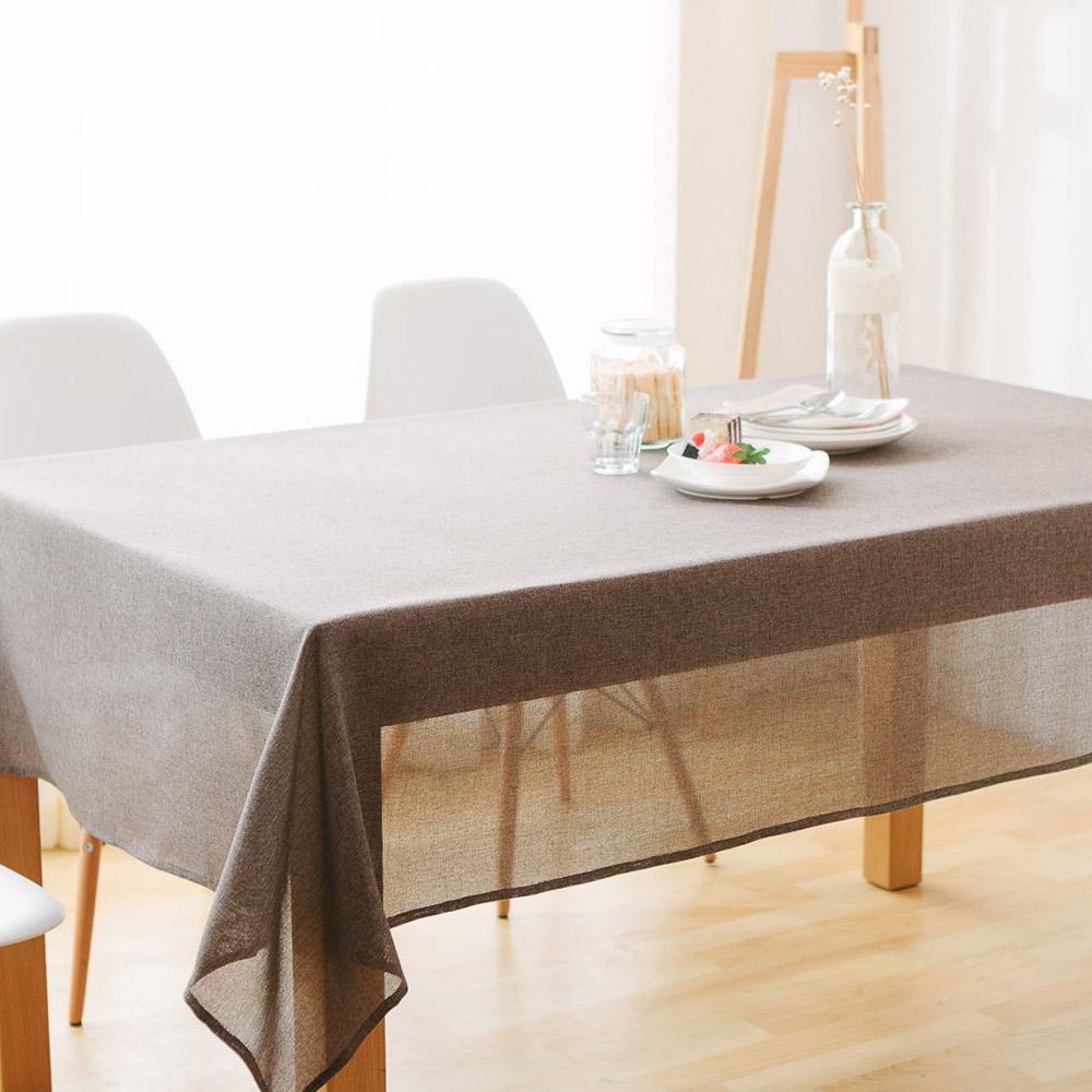 伊美居 - 日系仿麻防潑水桌巾 140cm x 140cm (1件)