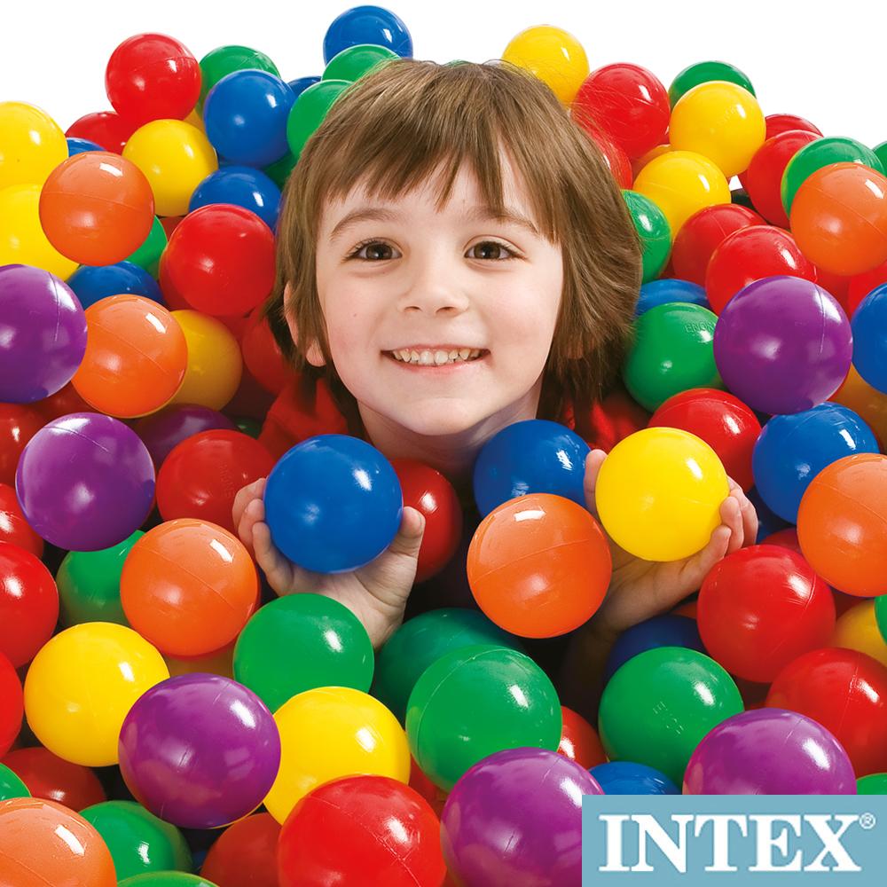 INTEX 100顆遊戲球-直徑6.5cm (49602)