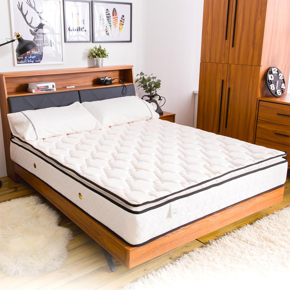 時尚屋  黛莉塔3.5尺加大單人舒適層乳膠透氣彈簧床墊