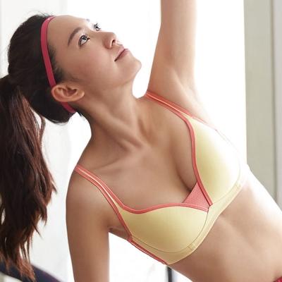 蕾黛絲-動氧Bra 低脊心無鋼圈D罩杯運動內衣(輕蜜黃)