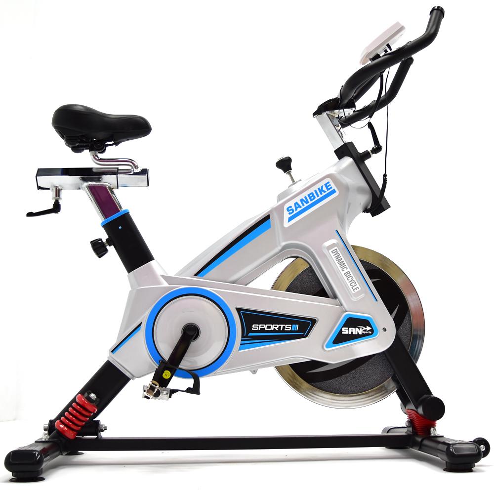 【SAN SPORTS 山司伯特】搖擺避震20KG飛輪健身車