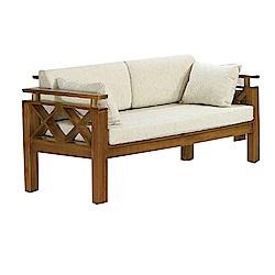 品家居 格蒂思亞麻布實木雙人椅(不含椅墊)-134x76x83cm-免組