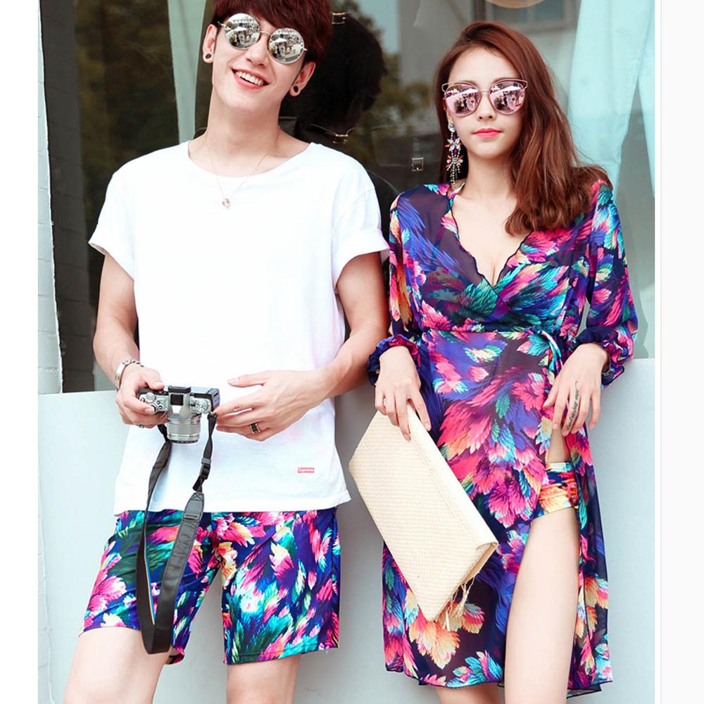 Biki比基尼妮泳衣  滿紫開叉泳衣情侶泳衣三件式泳裝(女生購買區)