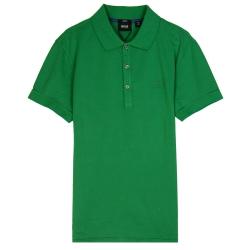 HUGO BOSS 黑標素面POLO男衫(綠)