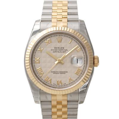 ROLEX 勞力士 DateJust 116233 蠔式恆動日誌型錶-金字塔羅馬面/37mm