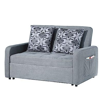 品家居 玫莉灰亞麻布拉合式沙發床-135x95x88cm-免組