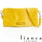 lianca 經典多WAY磁釦反褶包(大) 黃