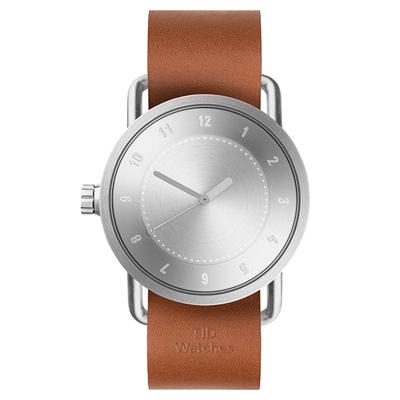 TID Watches No.1 TID-N1-40-TW-銀X咖啡錶帶/40mm