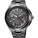 CITIZEN Eco-Drive衛星對時鈦金屬腕錶(CC1085-52E)-黑/48mm