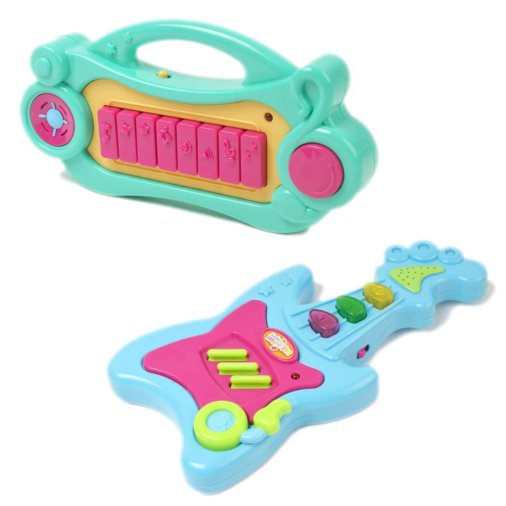 Amuzinc酷比樂 Redbox幼教玩具聲光電子吉他+聲光電子豎琴
