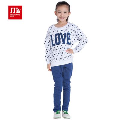 JJLKIDS 經典星星二件式套裝(寶石藍)