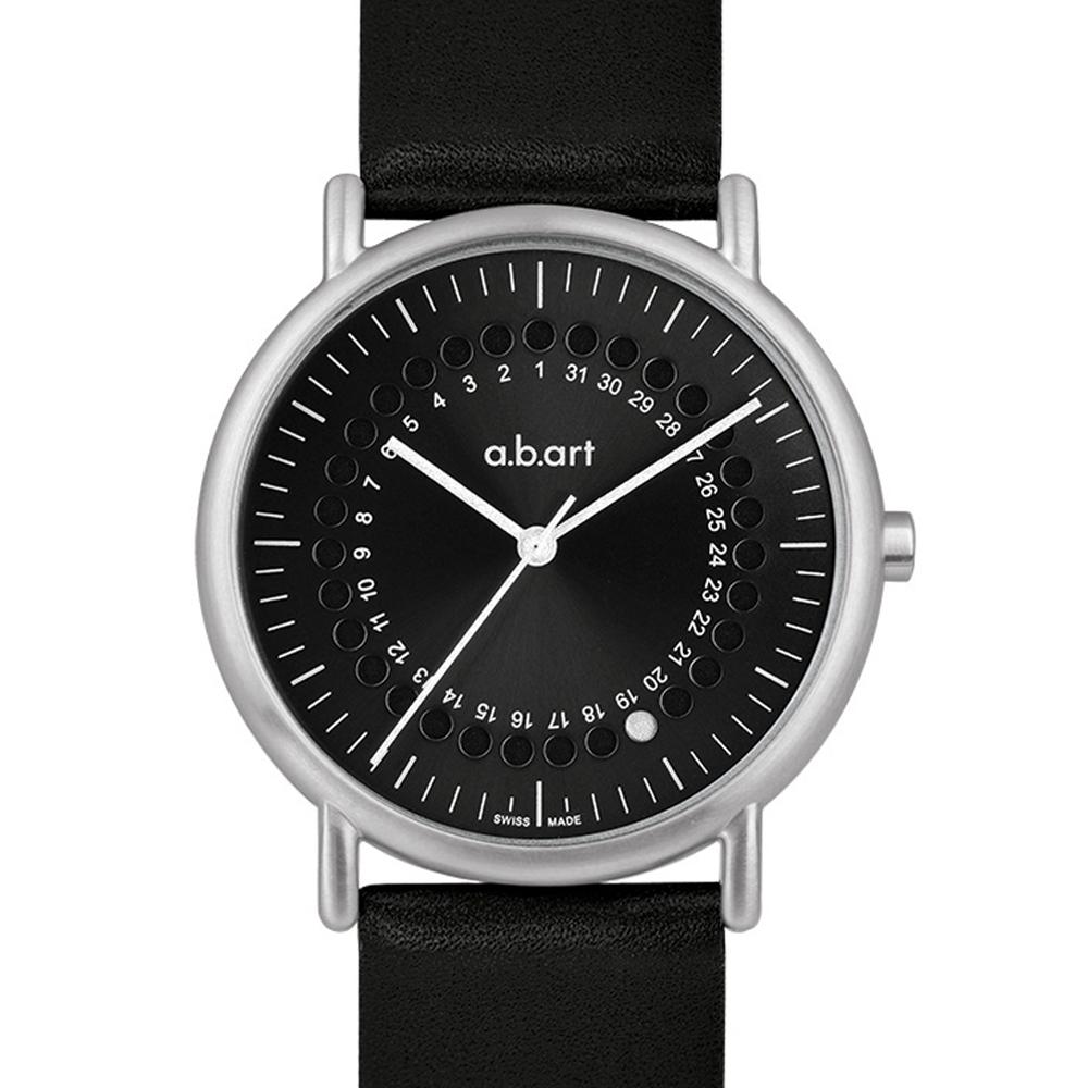 a.b.art KLD系列 日期圓盤跳點復刻紀念腕錶-黑/38mm