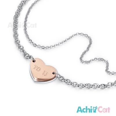 AchiCat 珠寶白鋼手鍊 幸福時刻 愛心