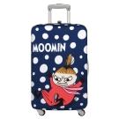LOQI 行李箱保護套-Moomin 小不點藍(M號 適用22-27吋行李箱)