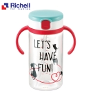日本Richell 幼兒學習水杯320ML-貓物語