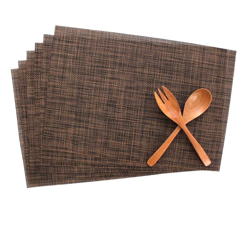 LOVEL 歐美風手作編織感餐墊-卡布奇諾(2入組)