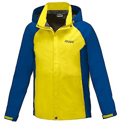 【ATUNAS 歐都納】男款防水GORE-TEX單件式外套A3-G1515M黃藍