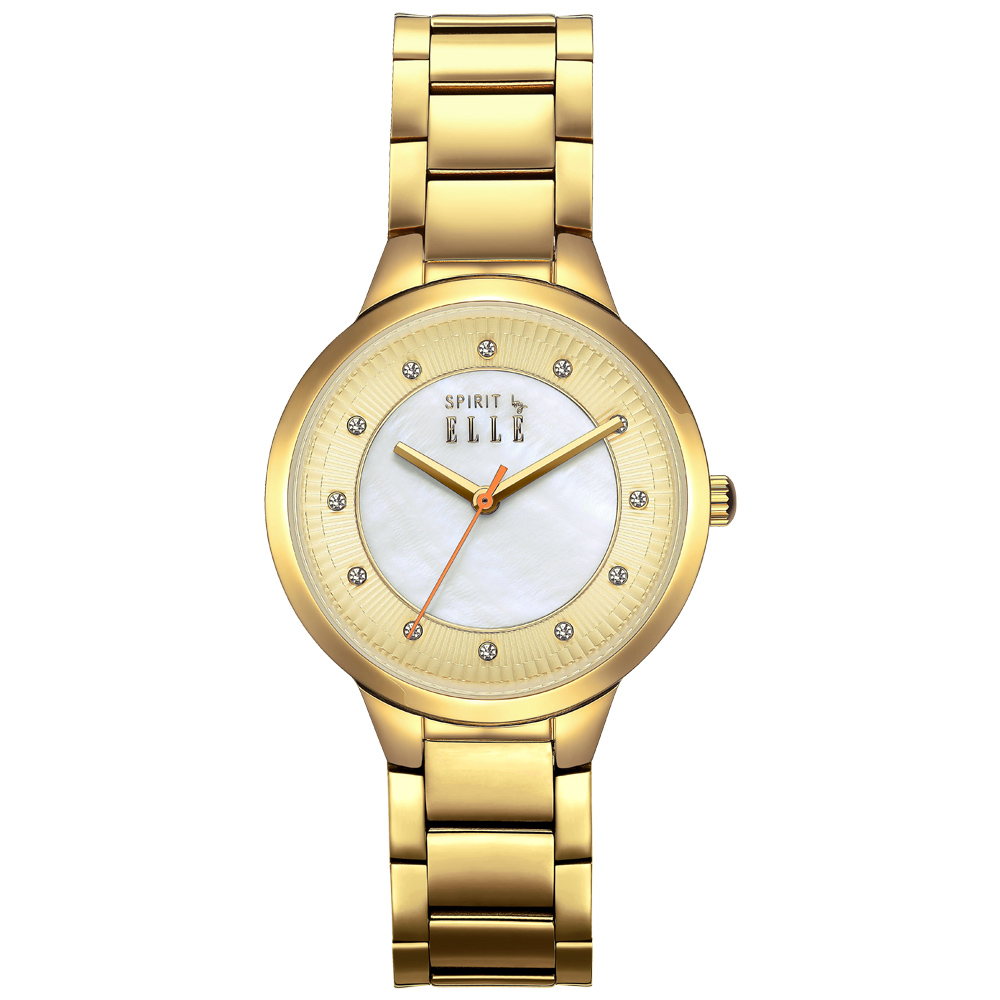 ELLE  玩樂新點子時尚水鑽腕錶-ES21001B03X/34mm