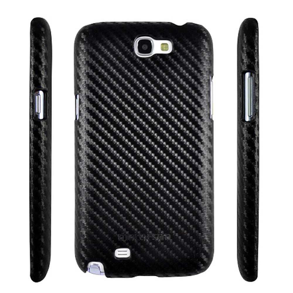Metal-Slim Samsung Galaxy Note 2 卡夢黑 保護殼