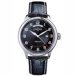 DAVOSA Pares 佩爾斯系列 Day Date 機械腕錶-黑/44mm