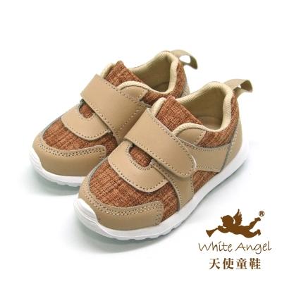 天使童鞋-L0682 輕量型休閒運動鞋(小童)-稻禾黃