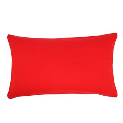 Yvonne Collection義大利床組枕套(正面-紅/背面-淺灰)