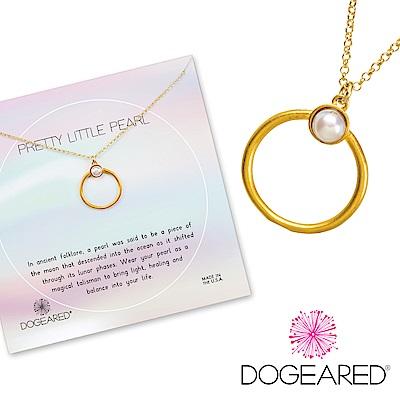Dogeared Pretty Pearls Ring 珍珠戒指造型金色項鍊 附原廠盒