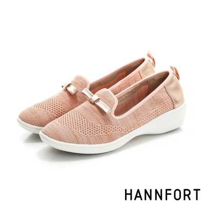 HANNFORT H-COMF五密度編織甜美樂福鞋-女-櫻花粉
