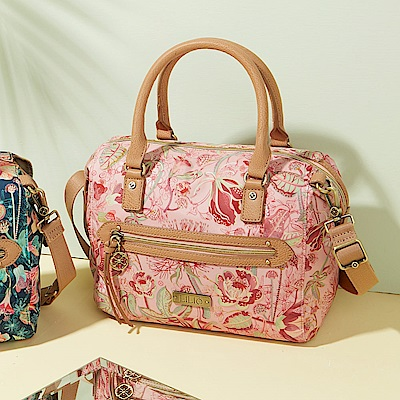LiliO  側背包  非洲花卉彩繪印花  S Handbag Powder