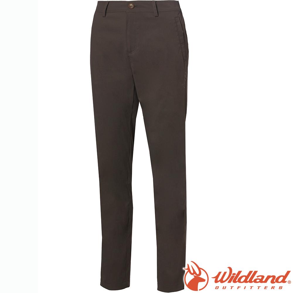 Wildland 荒野 0A61305-100松葉灰 女彈性透氣抗UV直筒長褲
