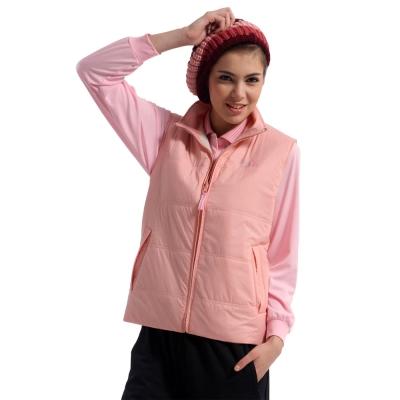 【Men Shark】輕量柔軟鋪棉雙面★中性版保暖背心(2色 粉紅/綠)
