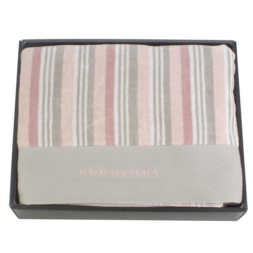 BURBERRY時尚條紋絨面浴巾
