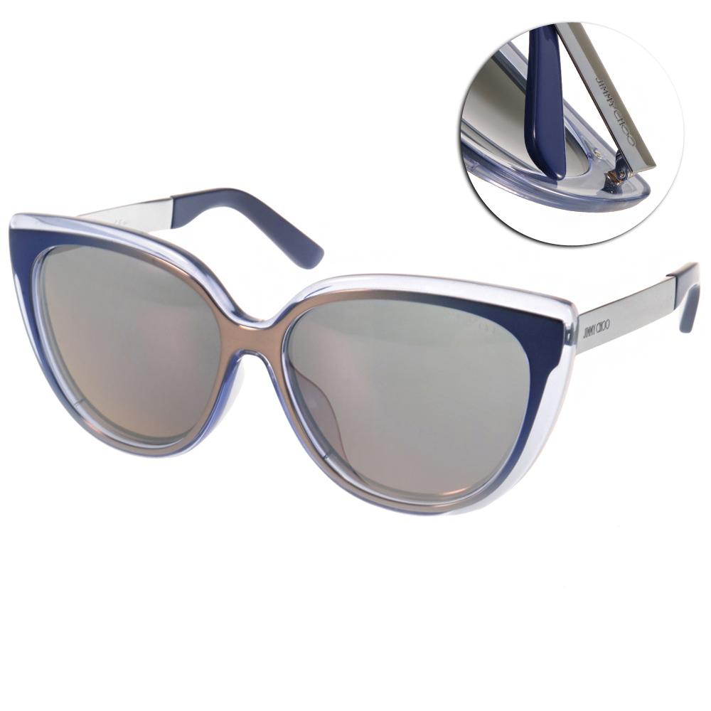 Jimmy Choo太陽眼鏡 廣告貓眼款/漸層透藍-水銀#CINDYFS 1MR