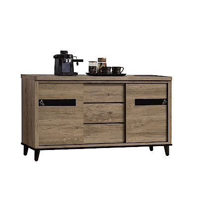 品家居 尼可夫5.1尺橡木紋餐櫃下座-154x47x85cm免組