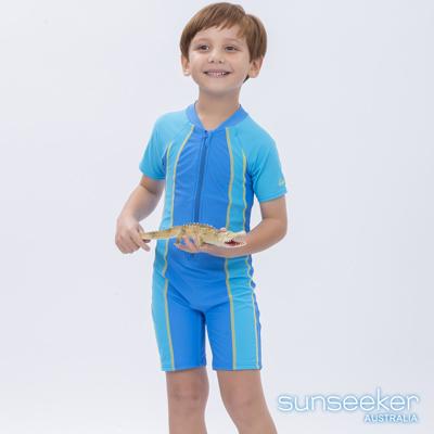 澳洲Sunseeker泳裝男童抗UV防曬短袖連身泳衣