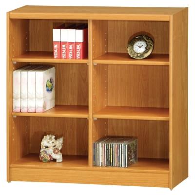 時尚屋 豪豐3x3尺開放式書櫃 寬90cm 多色可選-免組