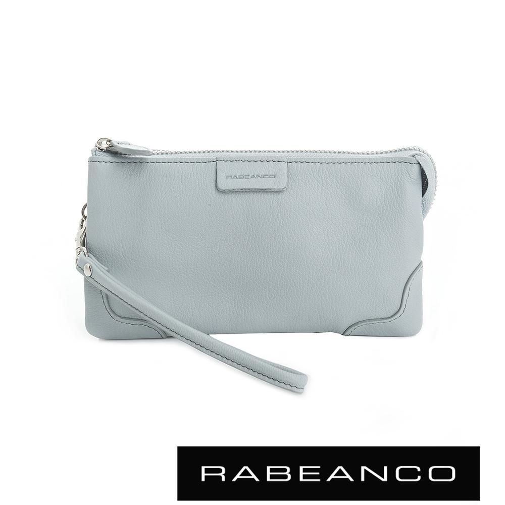 RABEANCO 迷時尚系列多分層羊皮手拎零錢包(大) 淺藍