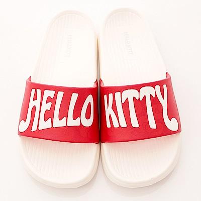 Hello Kitty-超輕量止滑拖鞋款-17136白紅(女段)