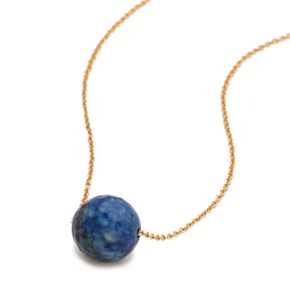 GORJANA 寶藍青金石 立體圓球頸鍊X項鍊 可調式設計 Newport Lapis
