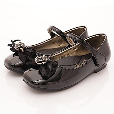 PV日系私藏 玫瑰鑽石公主鞋款 7762黑(中小童段)T1