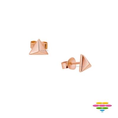 彩糖鑽工坊 銀鍍玫瑰金耳環 桃樂絲 Doris系列
