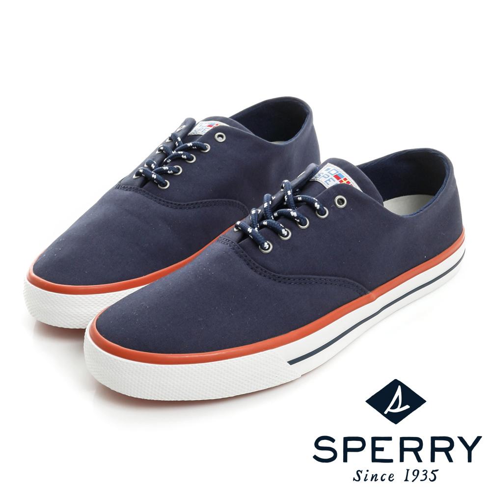 SPERRY 海軍 Captain CVO舒適進化帆布休閒鞋(情侶款)-海軍藍